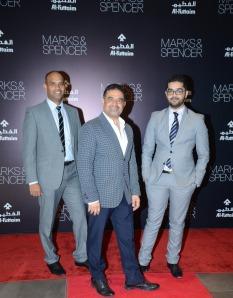 (L-R)Edwin Corda - Store Manager M&S Views Kuwait, Mokhtar Hashem -Regional Manager M&S -GCC, Levant & Egypt, Ibrahim Qarmeesh _ Store Manager M&S Avenues Kuwait